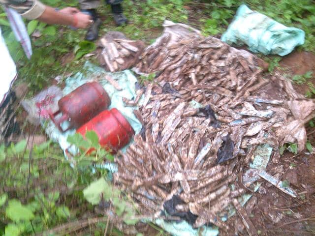 A-handout-photo-shows-explosives-that-were-seized-by-the-CRPF-personnel-from-a-village-in-Imamganj-town-HT-Photo