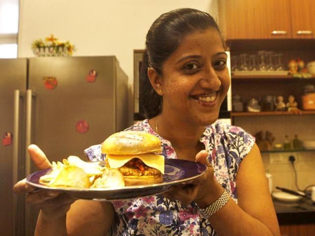 Kshama-Prabhu-is-the-executive-chef-at-The-Bar-Stock-Exchange-Vidya-Subramanian-HT-photo-Location-APB-cook-studio