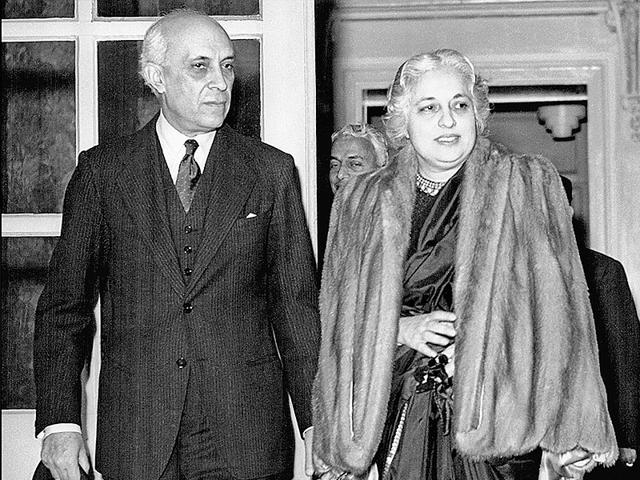 Jawaharlal-Nehru-and-his-sister-Vijay-Lakshmi-Pandit-in-England-in-1950-Pandit-the-first-woman-president-of-the-UN-General-Assembly-is-Nayantara-Sahgal-s-mother-Getty-images