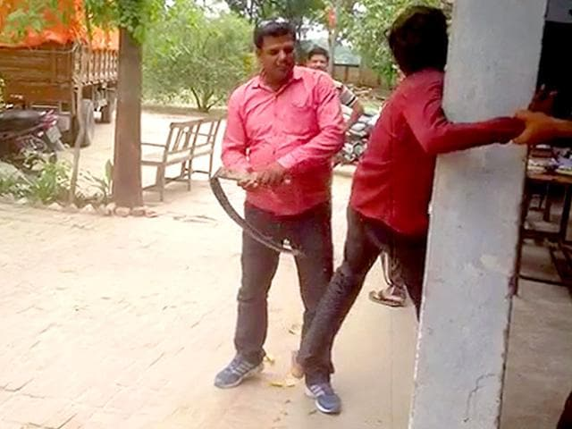 Teenager-gets-flogged-at-a-police-station-in-Farrukhabad-Uttar-Pradesh-HT-Photo
