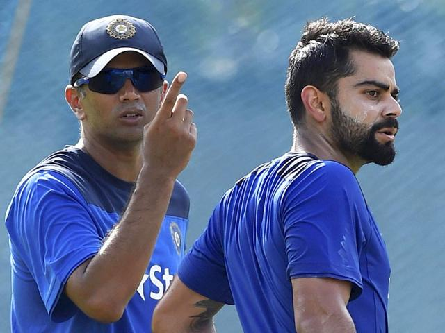 Rahul-Dravid-and-Virat-Kohli-got-to-discuss-cricket-at-length-as-the-Sri-Lanka-bound-skipper-chose-to-warm-up-in-the-A-game-in-Chennai-which-the-the-home-team-lost-to-Australia-PTI-Photo