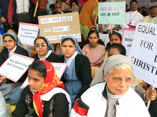 A-dharna-organised-by-Dalit-Christians-and-Catholic-bishops-in-New-Delhi-2007-Sonu-Mehta-HT