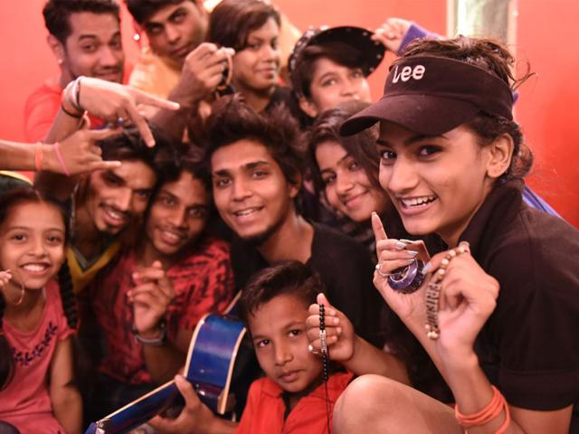 Students-from-Next-Creator-s-Fashion-Institute-celebrate-Friendship-Day-in-Bhopal-on-Sunday-Mujeeb-Faruqui-HT-photo