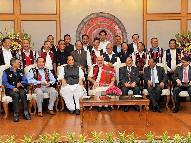 Tribal-separatist-militant-of-the-outlawed-National-Socialist-Council-of-Nagaland-NSCN-surrendering-arms-before-the-GOC-of-the-3-Corps-Lt-Gen-TS-Shergill-in-Kohima-Nagaland-Anupam-HT-File-Photo