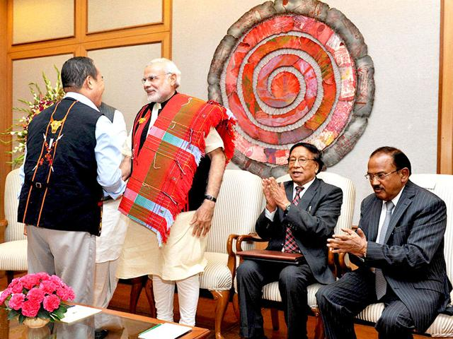 The-Modi-government-had-on-August-3-signed-a-framework-agreement-with-the-largest-Naga-faction-the-National-Socialist-Council-of-Nagaland-Isak-Muivah-promising-an-end-to-India-s-longest-running-insurgency-The-details-of-the-agreement-are-still-in-the-works-Photo-Courtesy-PIB