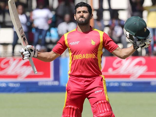 Zimbabwe-batsman-Sikandar-Raza-Butt-celebrates-after-scoring-his-century-during-the-second-one-day-international-cricket-match-between-against-New-Zealand-in-Harare-Zimbabwe-on-August-4-2015-AFP-Photo