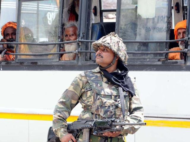 A-Central-Reserve-Police-Force-CRPF-soldier-keeping-a-tight-vigil-after-the-terrorist-attack-in-Udhampur-on-Wednesday-Security-has-been-beefed-up-in-the-area-Photo-by-Nitin-Kanotra-HIndustan-Times