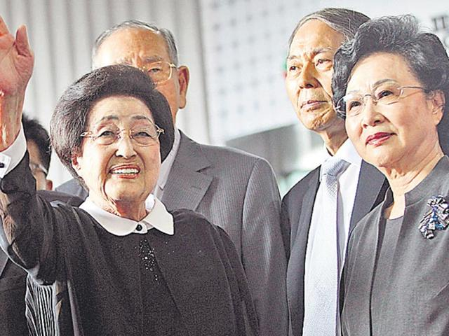 Widow of ex-South Korean leader travels to North Korea