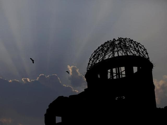 Birds-fly-over-the-Atomic-Bomb-Dome-in-Hiroshima-western-Japan-July-29-2015-REUTERS