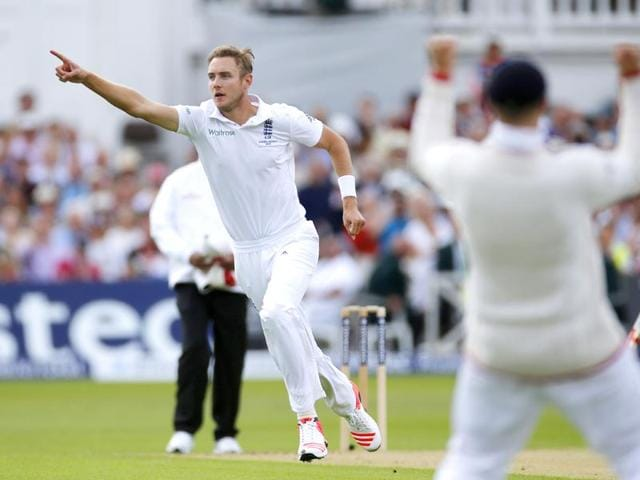 England-s-Stuart-Broad-celebrates-after-taking-the-wicket-of-Australia-s-Chris-Rogers-his-300th-Test-wicket-on-Day-1-of-the-Investec-Ashes-series-fourth-Test-match-at-Trent-Bridge-Nottinghamshire-England-on-August-6-2015-Reuters-Photo