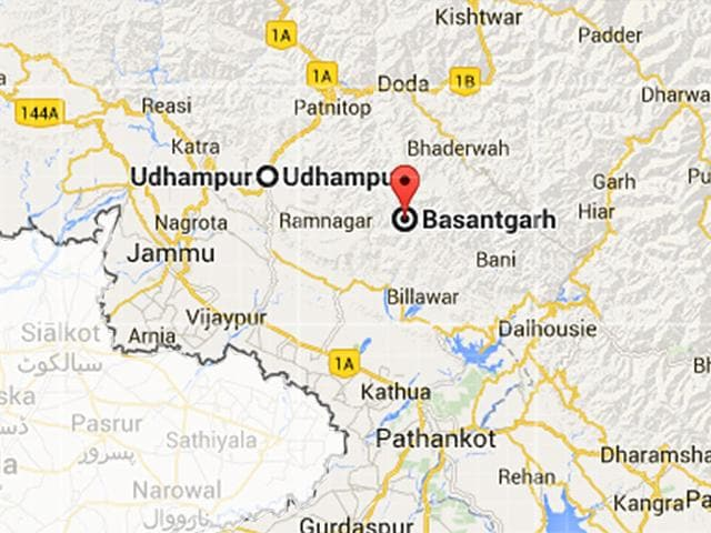 A-police-post-in-Basantgarh-a-remote-area-in-Udhampur-district-was-attacked-by-militants-on-Thursday-Google-maps