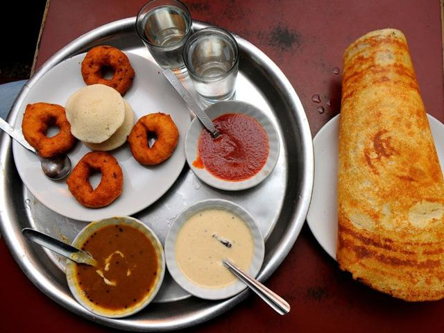 Idli, vada, and sambhar are among the most trusted items in terms of taste. Ravi Kumar/HT