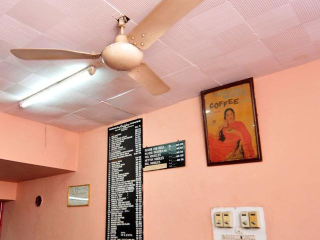 The coffee house offers a long list of south indian dishes. Ravi Kumar/HT