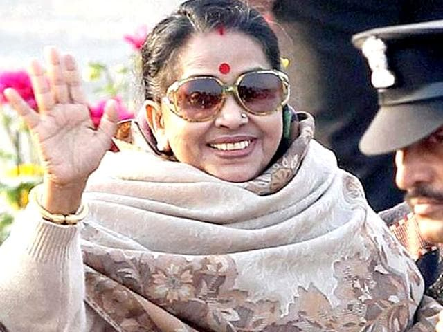 A-file-photo-of-President-s-wife-Suvra-Mukherjee-at-the-beating-retreat-ceremony-at-Vijay-Chowk-in-New-Delhi-PTI-Photo