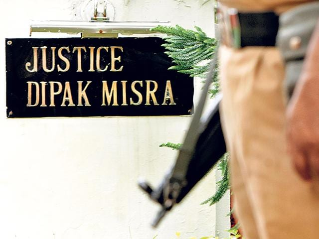 The-heightened-security-for-justice-Dipak-Misra-was-put-in-place-after-the-apex-court-judge-received-a-death-threat-letter-on-August-5-HT-photo-Arun-Sharma