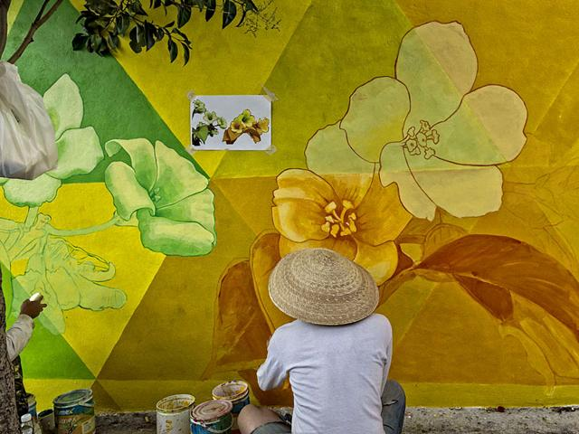 Launched in 2012, the project which was funded by the Mexican government employed 20 graffiti artistts to paint more than 200 houses. The aim was to redesign the city's social fabric and reduce crime. (AFP Photo)