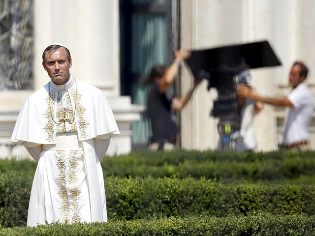 British-actor-Jude-Law-performs-as-the-fictional-Pope-Pio-XIII-on-the-set-of-the-new-television-series-The-Young-Pope-directed-by-Paolo-Sorrentino-Reuters-photo-Yara-Nardi