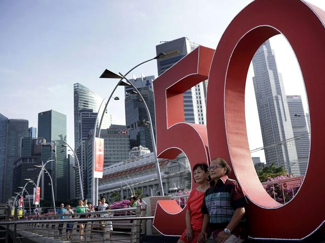 Singapore,50 years of Independence,parade
