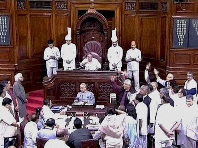 The-Rajya-Sabha-saw-heated-arguments-between-the-opposition-and-treasury-benches-over-the-Parliament-logjam-and-after-proceedings-were-deferred-twice-the-House-was-adjourned-for-the-day-following-uproar-in-the-post-lunch-session-PTI-Photo