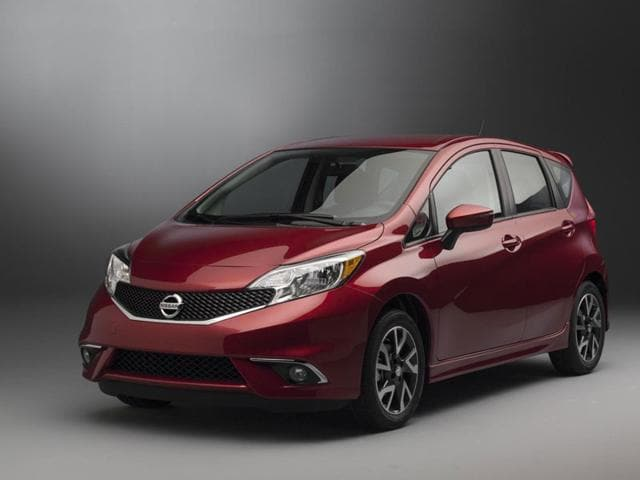 The Nissan Versa Note : A sub-compact hatchback that boasts plenty of rear leg room and plenty of trunk space plus a lot of high-tech kit as standard including Bluetooth connectivity but its biggest feature is fuel economy especially when specified with a CVT transmission. Photo:AFP