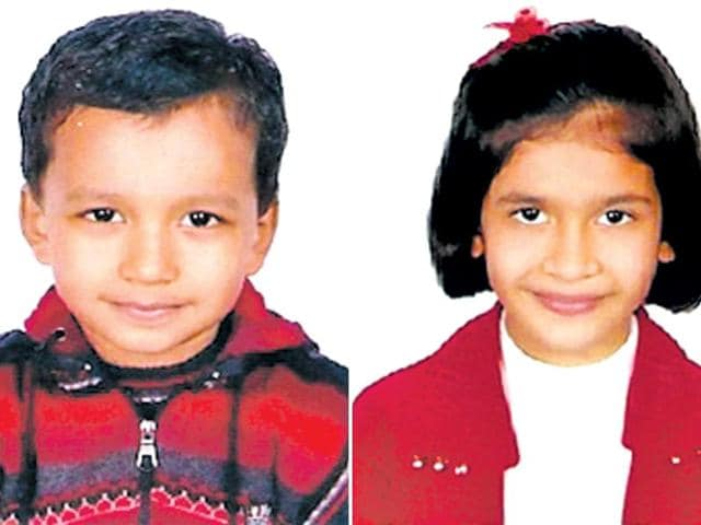 Gwalior-based-siblings-Kandarp-Sharma-5-years-and-10-months-and-Ritvika-8-years-have-set-a-record-for-being-the-youngest-climbers-to-reach-Mount-Everest-base-camp-HT-Photo