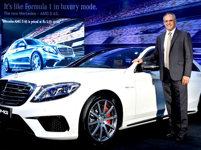 Managing-Director-and-CEO-of-Mercedes-Benz-India-Eberhard-Kern-with-the-Mercedes-Benz-AMG-S63-in-Bengaluru-The-5-5-litre-V8-twin-turbo-AMG-S63-is-the-ninth-AMG-luxury-in-India-and-Mercedes-tenth-launch-this-year-AFP-Photo-Manjunath-Kiran