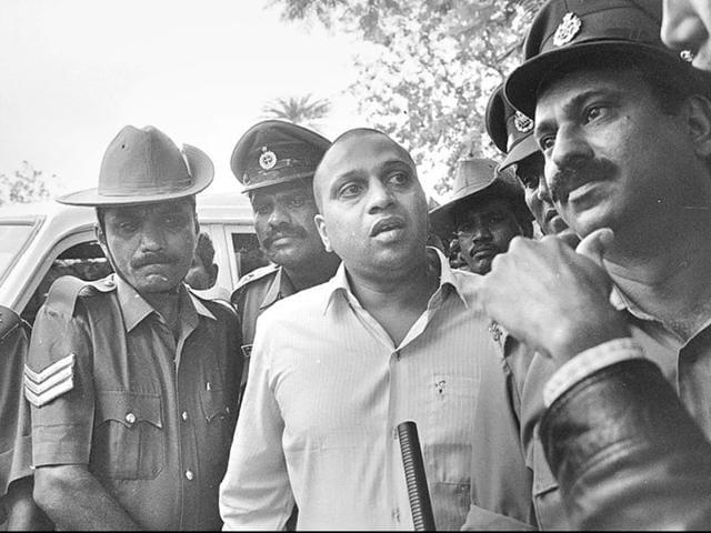 Sushil Sharma, convicted for killing his wife Naina Sahni, had his death sentence commuted to life term in 2013. (Sanjay Sharma/HT File Photo)