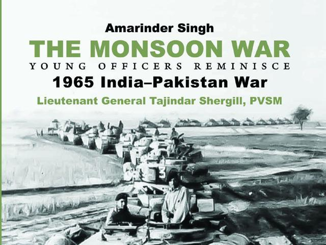 The cover of Captain Amarinder Singh's book 'The Monsoon War' (HT Photo)