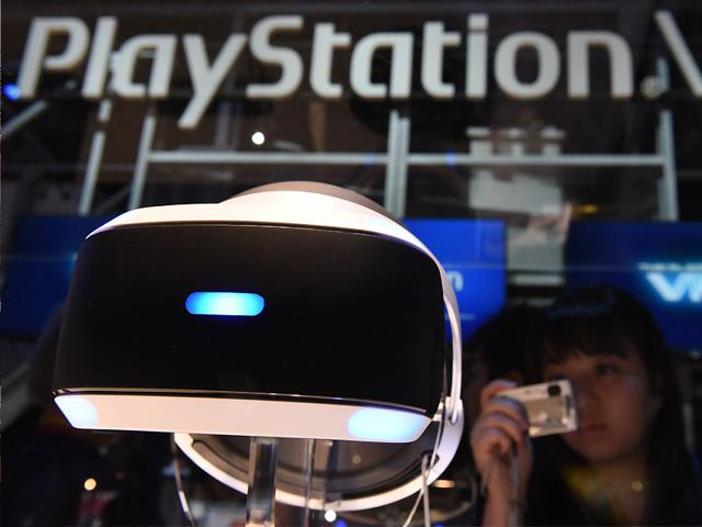Sony's PlayStation VR at the Tokyo Game Show. Photo: AFP