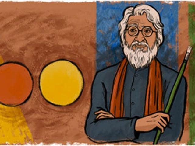 Google doodle on MF Husain's birth centenary breaks the silence in the virtual world