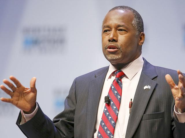 US Republican candidate Ben Carson speaks during the Heritage Action for America presidential candidate forum in Greenville, South Carolina. (Reuters Photo)