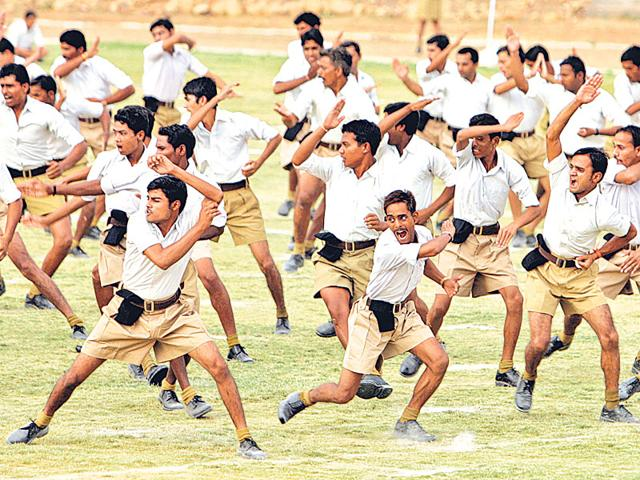 'The glory of the Hindu civilisation [was] interrupted by foreign invaders...' Such an assertion is central to the RSS political project since otherwise, the Aryans/Hindus would be as much of a 'foreign race' as anybody else who came to these lands. (Reuters Photo)