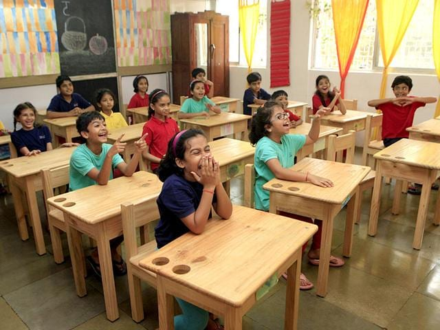 Schools that approach education differently are slowing gaining popularity in Mumbai — here textbooks are replaced by a focus on student's personal growth. (Pratham Gokhale/HT photo)
