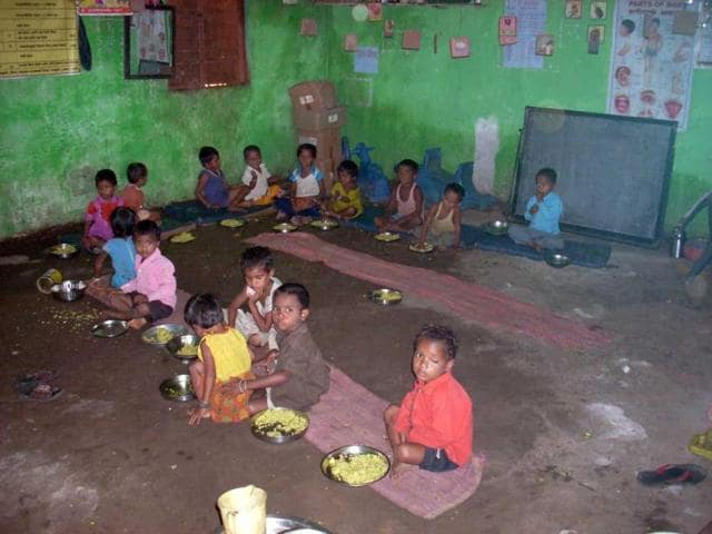Ektai-village-has-the-highest-proportion-of-severely-malnourished-children-in-Chikaldhara-block-Children-above-three-attend-Ektai-s-Anganwadi-centre-a-day-care-where-they-are-fed-two-meals-a-day
