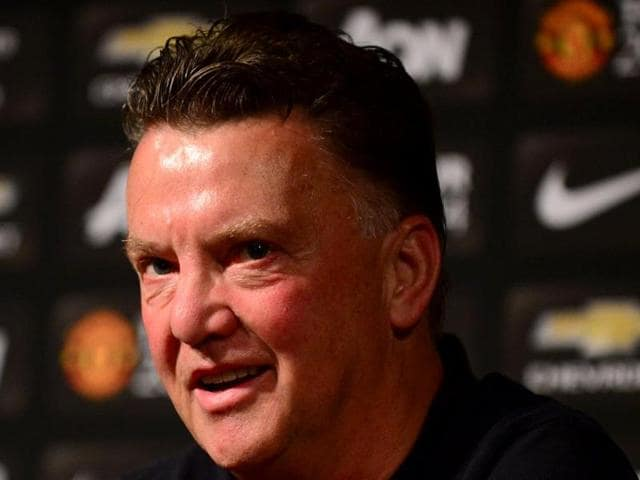 Manchester United's manager Louis Van Gaal speaks during a press conference. (AFP file photo)