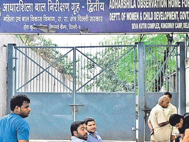 In-2013-protesting-against-the-lack-of-basic-facilities-at-the-Aadharshila-Juvenile-Home-in-New-Delhi-where-the-juvenile-accused-in-the-December-16-gang-rape-is-lodged-inmates-went-on-the-rampage-damaging-vehicles-and-setting-blankets-on-fire-Sushil-Kumar-HT-Photo