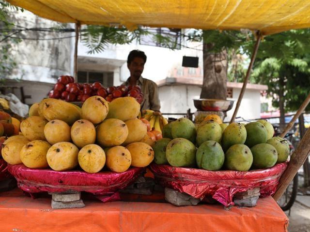 calcium carbide ripened mangoes