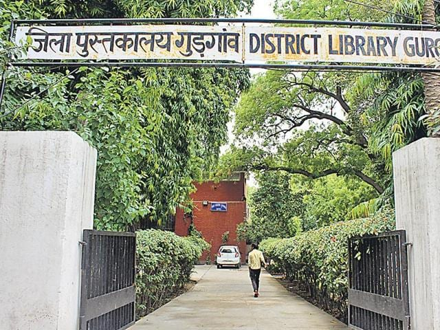 The two-storey library was constructed in 1963 and has over 50,000 books. (Lakshita Arora/ HT Photo)