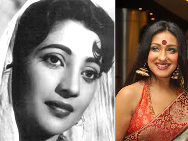 Rituparna Sengupta (right) says legendary actor Suchitra Sen introduced a new style of acting in Bengali cinema.