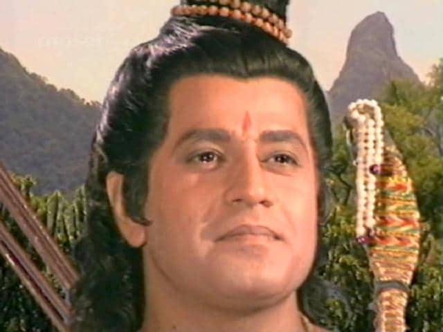 Arun Govil in a still from Ramayana.