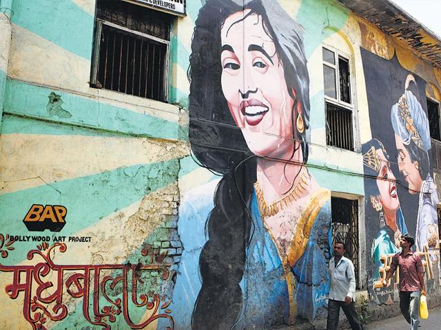 The suburb is a favourite for street art projects and the wall art is the result of initiatives like the Bollywood Art Project, Visual Disobedience's mural projects, and St+art, Mumbai's Magma Vol I & Vol II street art festival. (HT Photos/ Pratham Gokhale, Satish Bate, Pramod Thakur)