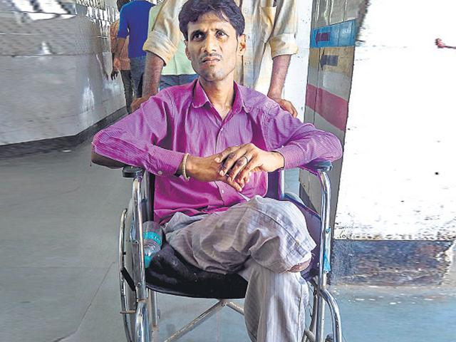 Pintu Singh says that he waited for 10 years but did not get treatment. (Saumya Khandelwal/HT Photo)