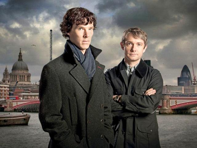 Benedict Cumberbatch and Martin Freeman in a BBC's Sherlock.