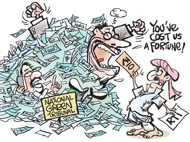 The CIC has rapped the National Green Tribunal for spending over Rs 30,000 in legal fee to defend its decision not to provide information to a citizen who paid the Rs 10 RTI fee in court stamps. (HT Photo)