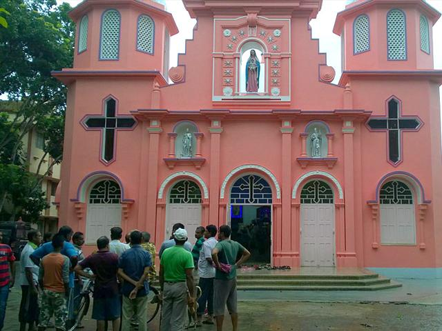 The vandalism of the St Thomas Catholic Church at Taherpur is the latest in a string of attacks on minority-run institutions across the country, which opposition parties and activists attribute to fringe right-wing groups. (HT Photo)