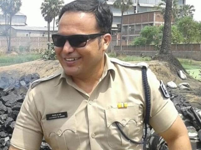 Shivdeep Wamanrao Lande, currently SP of Rohtas district in Bihar, has a reputation for being hands on in crises. He has a reputation for protecting female children (HT Photo)