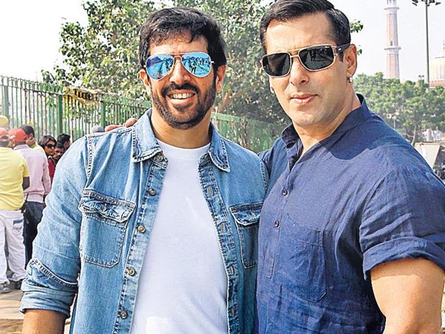 From L to R: Director Kabir Khan with Salman Khan. (HT photo)