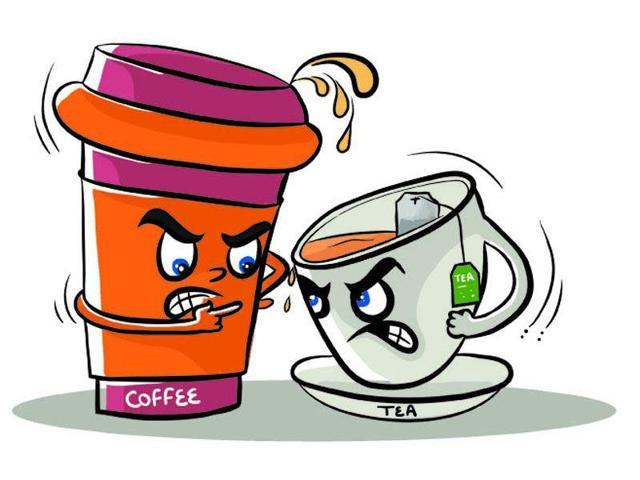 Tea vs coffee (Illustration by Daljeet Kaur Sandhu/HT)
