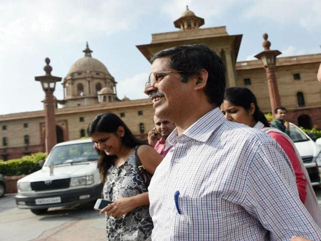 Amitabh Thakur after meeting with MHA officials in New Delhi on Monday. (PTI Photo)