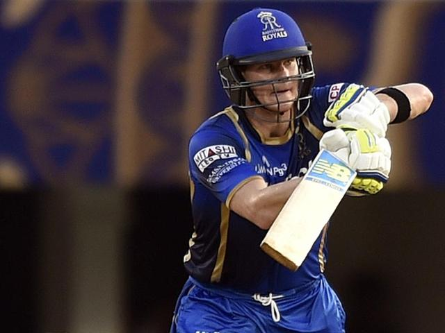 Steve Smith bats for Rajasthan Royals during the IPL 2013. (HT File Photo)